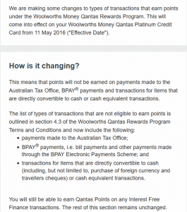 Woolworths Money Changes