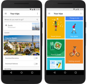 Google Trips Example