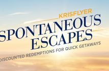 KrisFlyer Spontaneous Escapes