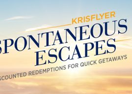 Spontaneous Escapes – Get 30% off KrisFlyer redemptions