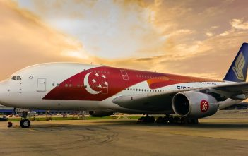 SQ A380 in SG50 livery