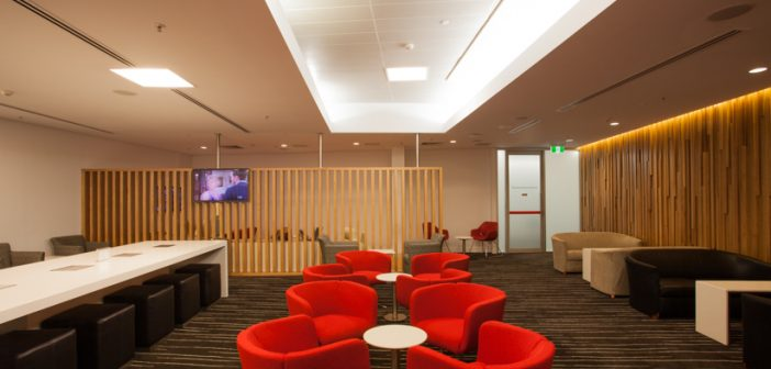 View of the Qantas Club