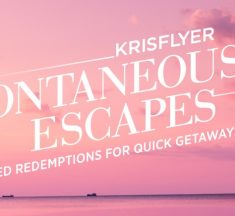 Krisflyer Spontaneous Escapes for March travel