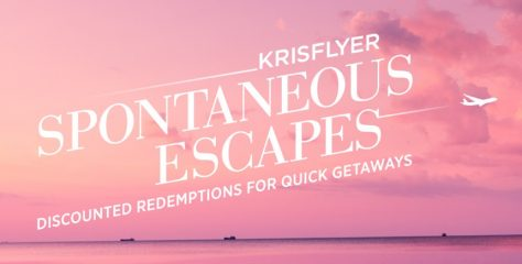 Krisflyer Spontaneous Escapes for February travel
