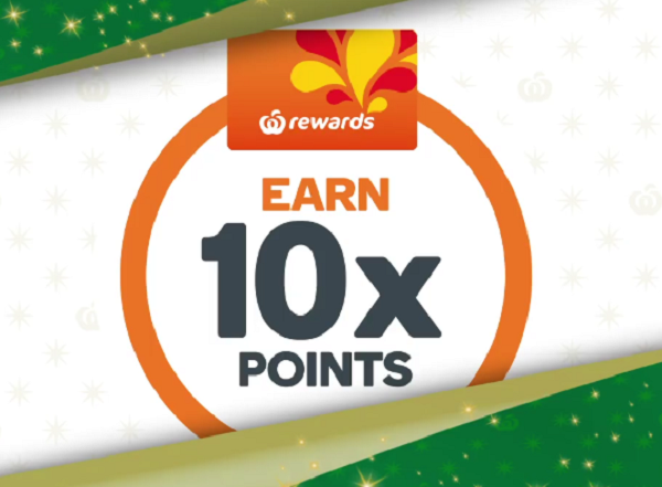 Get up to 10x Woolworths Rewards points this weekend