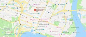 Map showing DoubleTree By Hilton Northbridge Location