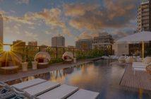 Hyatt Centric Waikiki Beach Pool Sunset