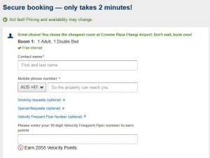 Hotel Payment Page