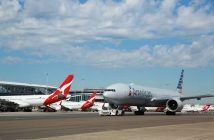 Qantas and American Airlines Planes