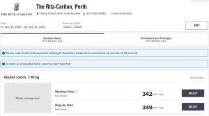Ritz-Carlton Perth Booking