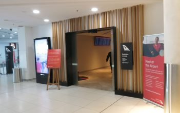 Qantas Perth Business Lounge Entrance