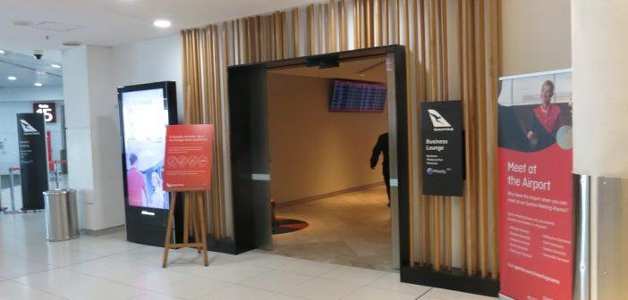 Qantas Perth Business Lounge Entrance