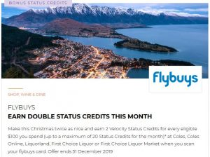 FlyBuys Double Status Credits Offer