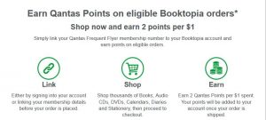 Earn Qantas Points at Booktopia