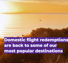 Velocity brings back domestic flight redemptions