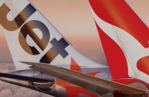 Jetstar Qantas Tails