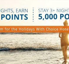 Choice Hotels Offers 2,000 Points for 2 Night stay or 3,000 Points for 3 Night stay