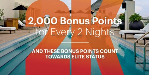 IHG offers 2,000 points for every 2 nights between 20 Jan and 31 Mar