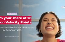 Velocity 20 Million Points promotion